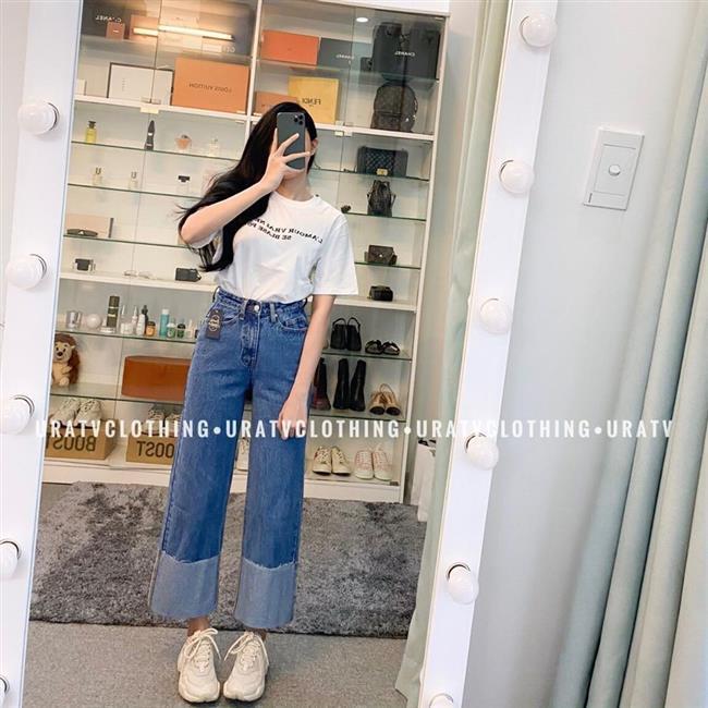 Uratv Clothing quần jeans nữ phong cách thời thượng 346